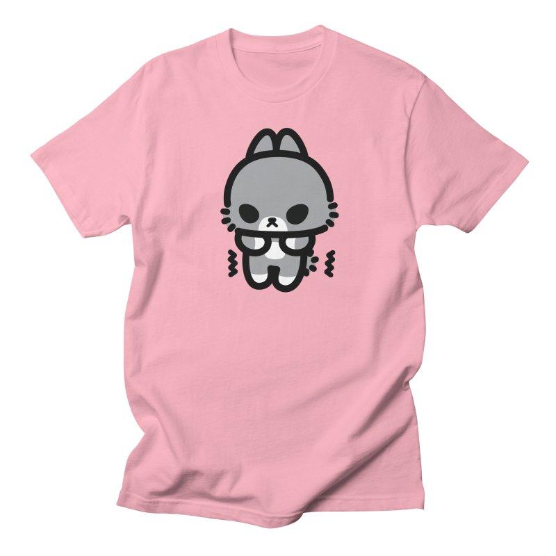 scaredy scaredy grey bunny Men's T-shirt by Ziqi - Monster Little
