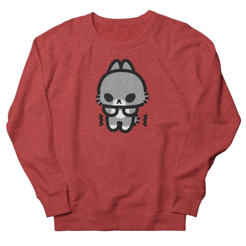 scaredy scaredy grey bunny Women's French Terry Sweatshirt by Ziqi - Monster Little