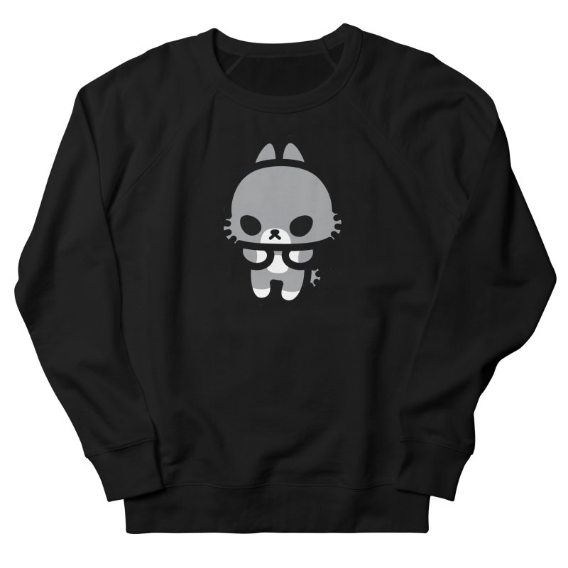 scaredy scaredy grey bunny Women's French Terry Sweatshirt by Ziqi - Monster Little