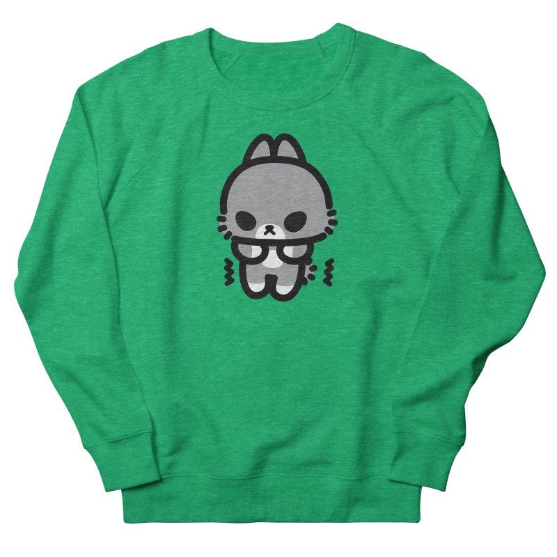 scaredy scaredy grey bunny Men's French Terry Sweatshirt by Ziqi - Monster Little