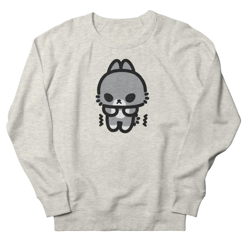 scaredy scaredy grey bunny Men's French Terry Sweatshirt by Ziqi - Monster Little