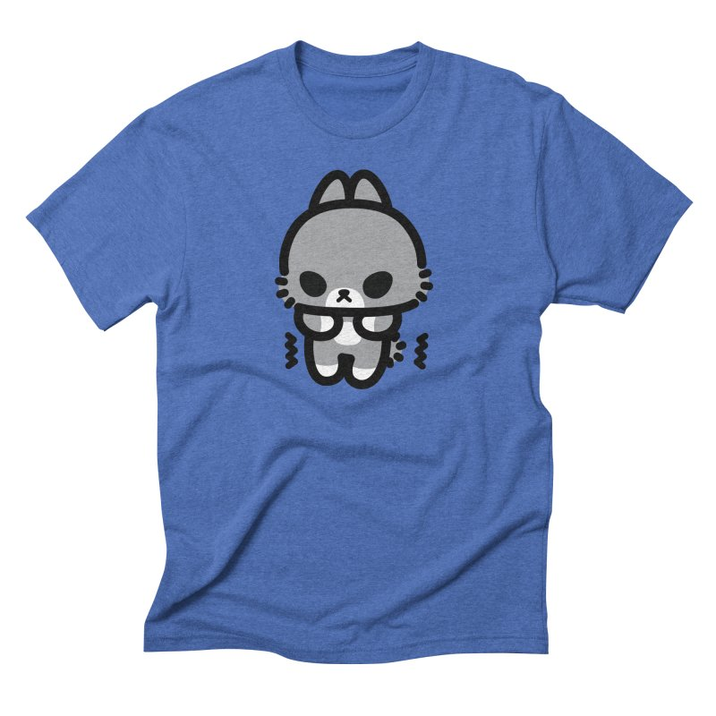 scaredy scaredy grey bunny Men's T-Shirt by Ziqi - Monster Little
