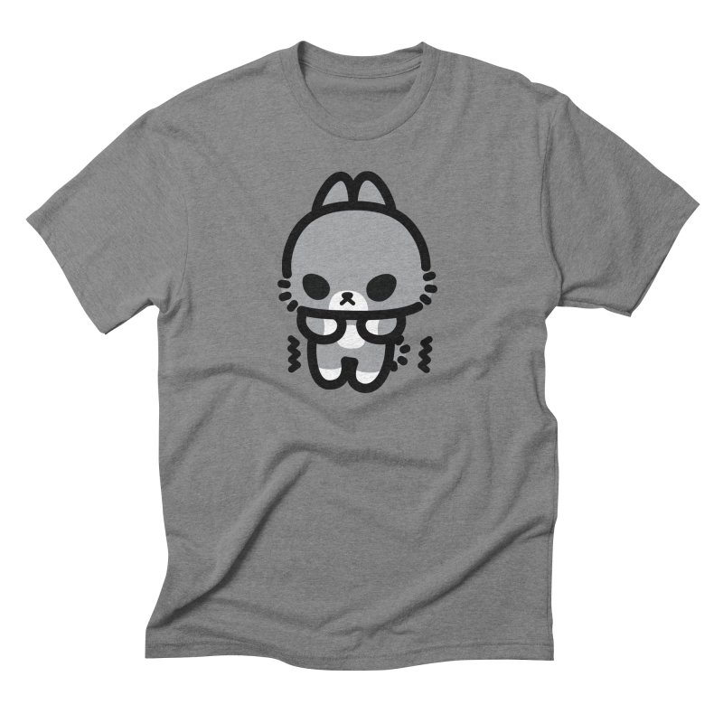 scaredy scaredy grey bunny Men's Triblend T-Shirt by Ziqi - Monster Little