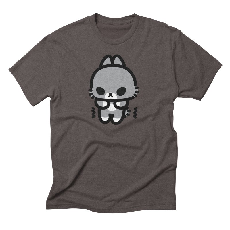 scaredy scaredy grey bunny Men's Triblend T-Shirt by Ziqi - Monster Little