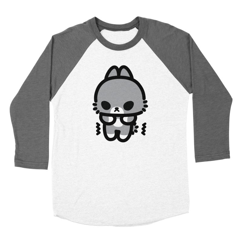 scaredy scaredy grey bunny Men's Baseball Triblend Longsleeve T-Shirt by Ziqi - Monster Little