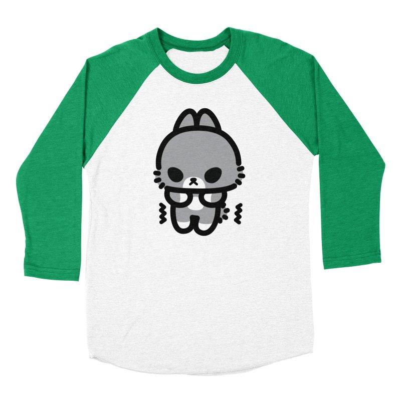 scaredy scaredy grey bunny Men's Baseball Triblend T-Shirt by Ziqi - Monster Little