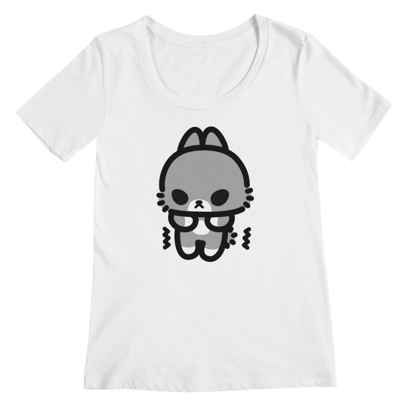 scaredy scaredy grey bunny Women's Regular Scoop Neck by Ziqi - Monster Little