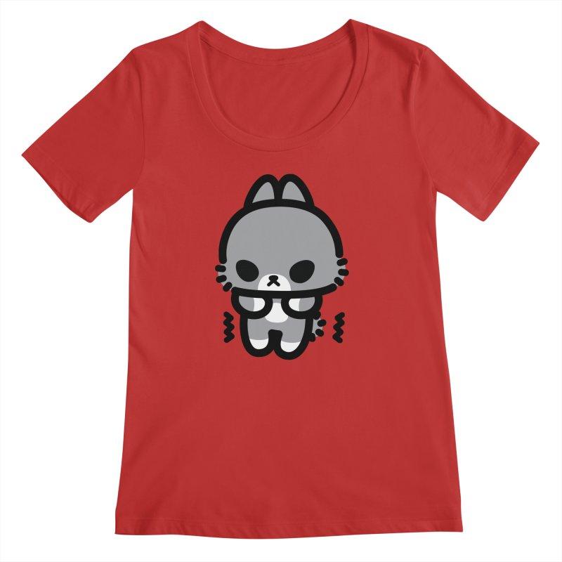 scaredy scaredy grey bunny Women's Regular Scoop Neck by Ziqi - Monster Little