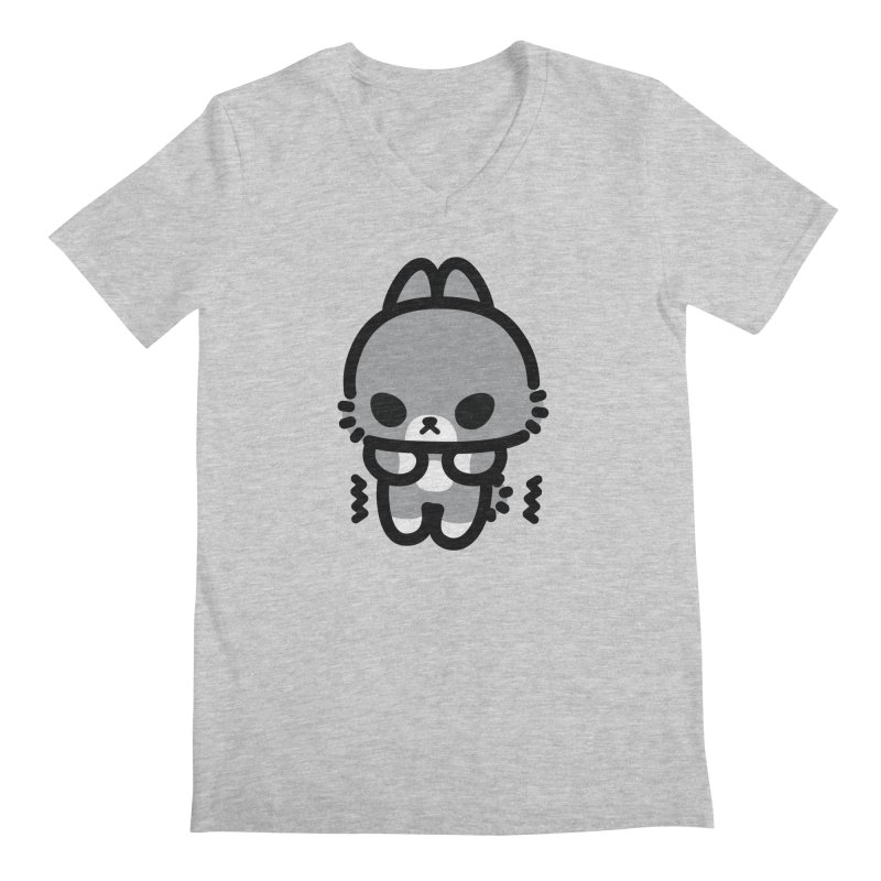 scaredy scaredy grey bunny Men's V-Neck by Ziqi - Monster Little