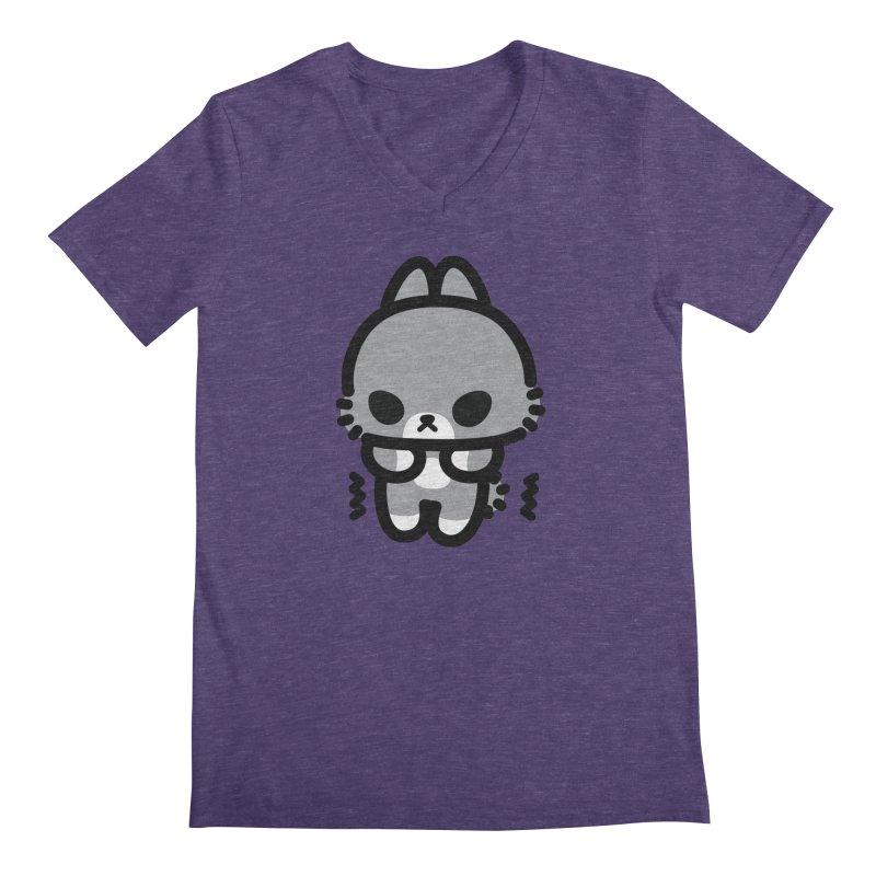 scaredy scaredy grey bunny Men's Regular V-Neck by Ziqi - Monster Little