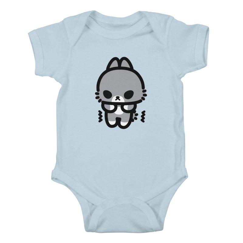 scaredy scaredy grey bunny Kids Baby Bodysuit by Ziqi - Monster Little