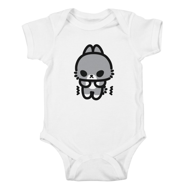 scaredy scaredy grey bunny Kids Baby Bodysuit by Ziqi - Monster Little