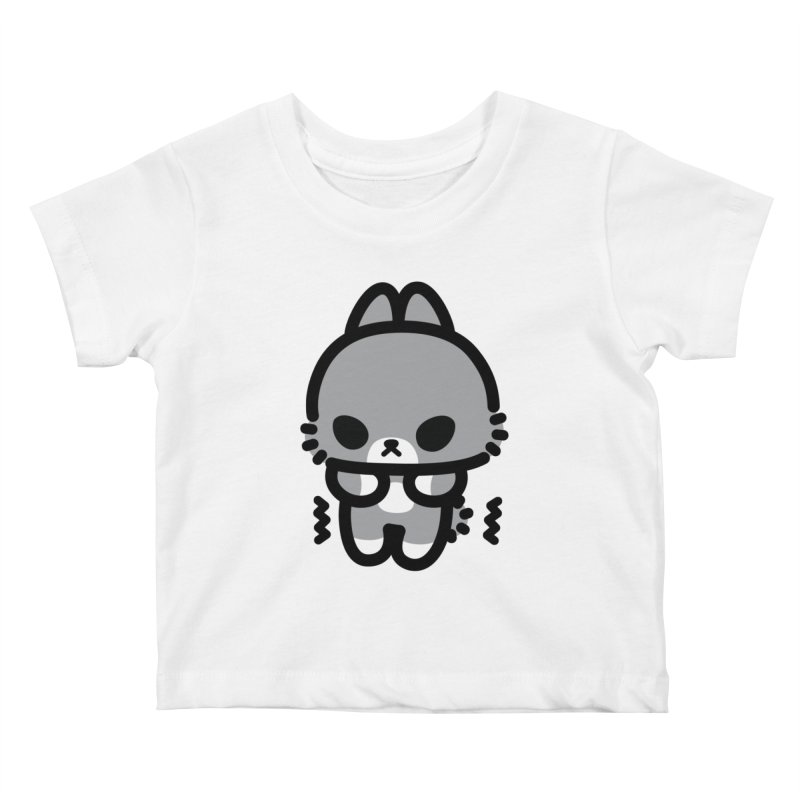scaredy scaredy grey bunny Kids Baby T-Shirt by Ziqi - Monster Little