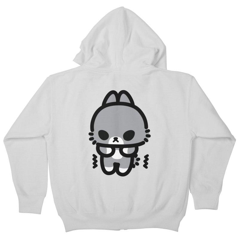 scaredy scaredy grey bunny Kids Zip-Up Hoody by Ziqi - Monster Little