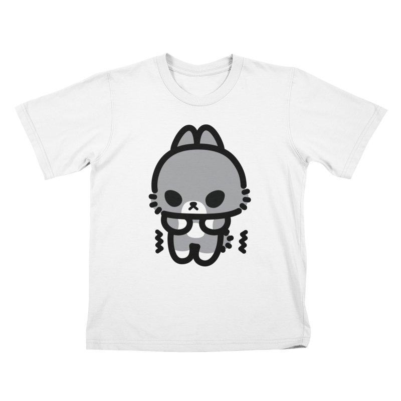 scaredy scaredy grey bunny Kids T-shirt by Ziqi - Monster Little