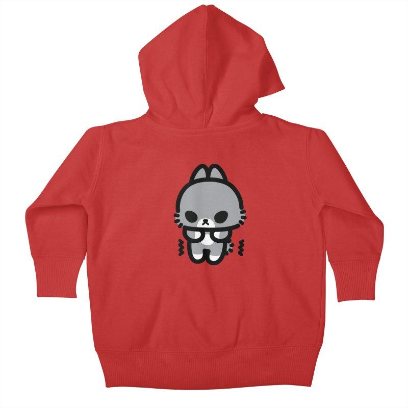 scaredy scaredy grey bunny Kids Baby Zip-Up Hoody by Ziqi - Monster Little