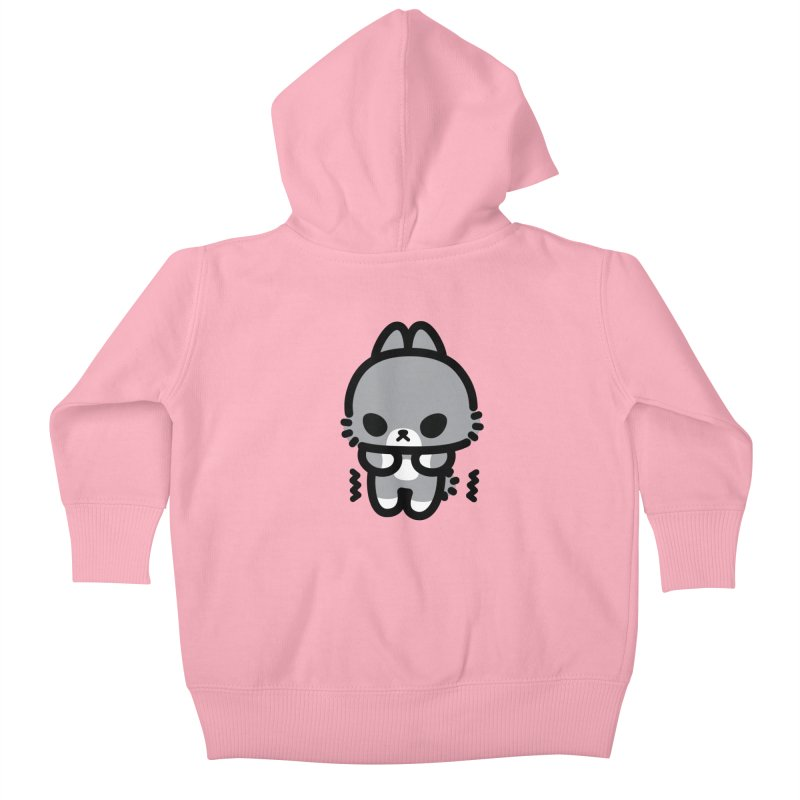 scaredy scaredy grey bunny Kids Baby Zip-Up Hoody by Ziqi - Monster Little