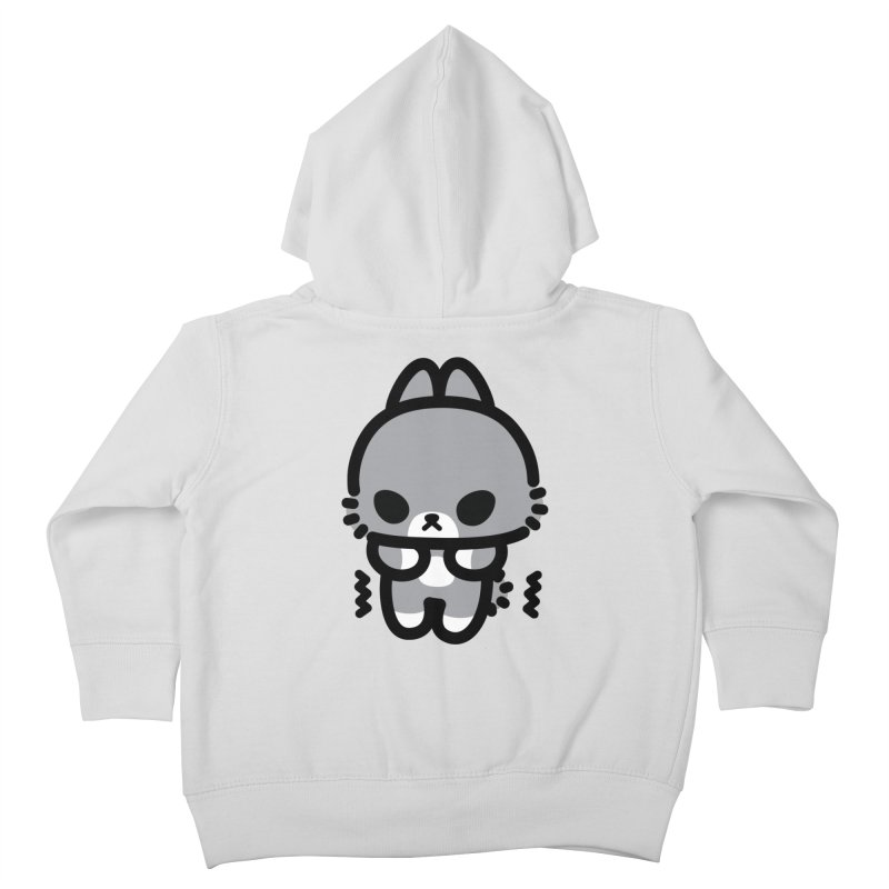 scaredy scaredy grey bunny Kids Toddler Zip-Up Hoody by Ziqi - Monster Little