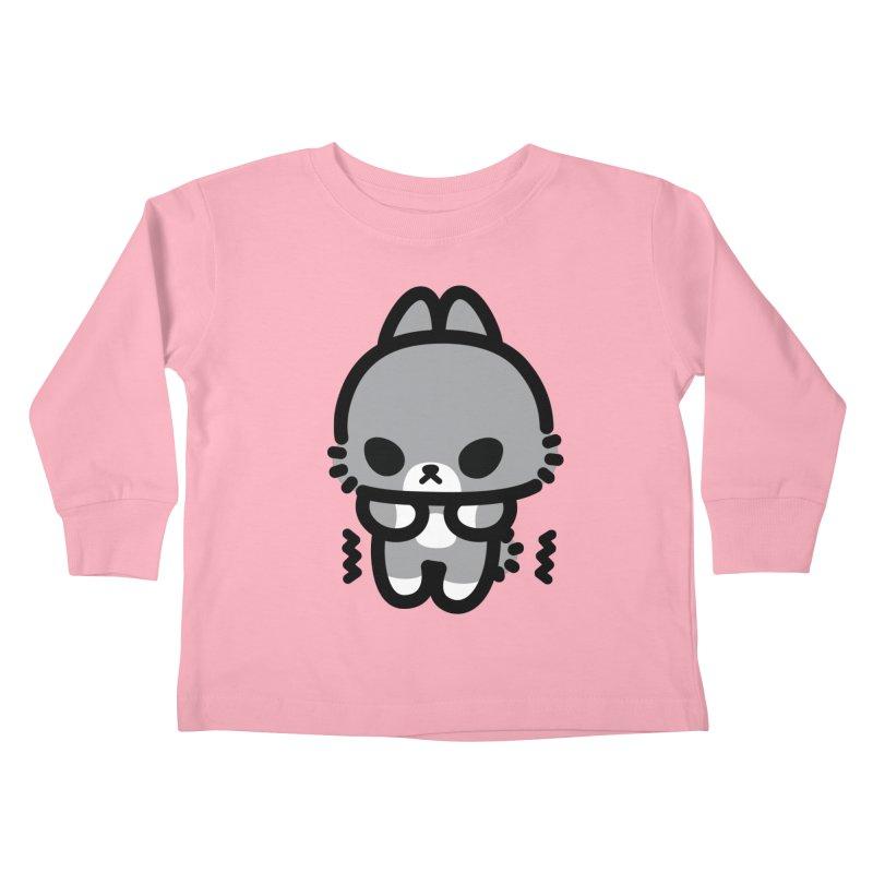 scaredy scaredy grey bunny Kids Toddler Longsleeve T-Shirt by Ziqi - Monster Little