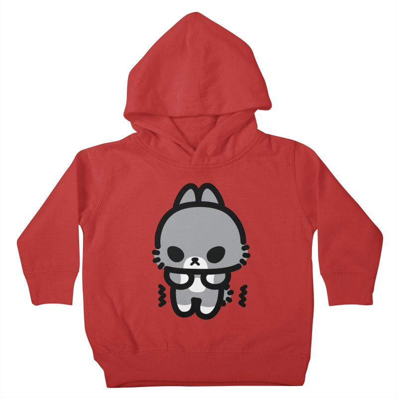 scaredy scaredy grey bunny Kids Toddler Pullover Hoody by Ziqi - Monster Little