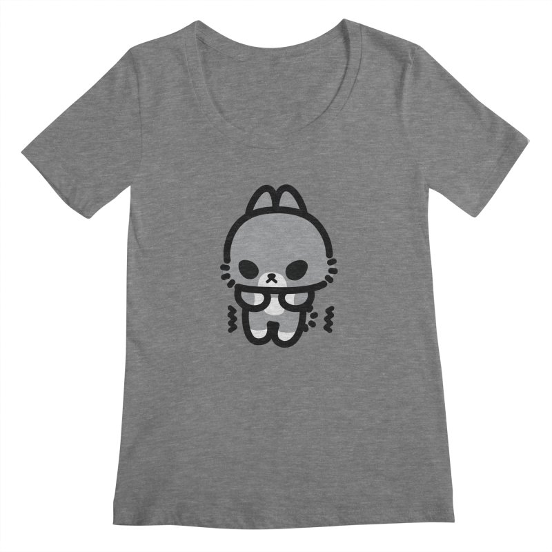 scaredy scaredy grey bunny Women's Scoopneck by Ziqi - Monster Little