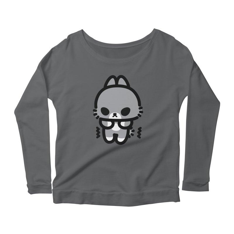 scaredy scaredy grey bunny Women's Scoop Neck Longsleeve T-Shirt by Ziqi - Monster Little