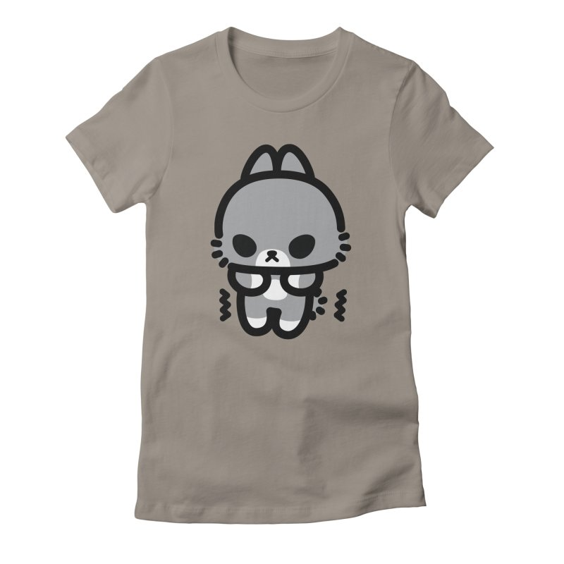 scaredy scaredy grey bunny Women's Fitted T-Shirt by Ziqi - Monster Little