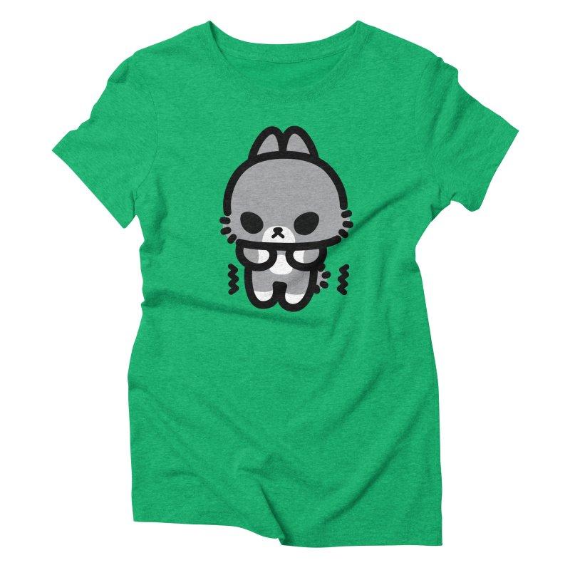 scaredy scaredy grey bunny Women's Triblend T-Shirt by Ziqi - Monster Little