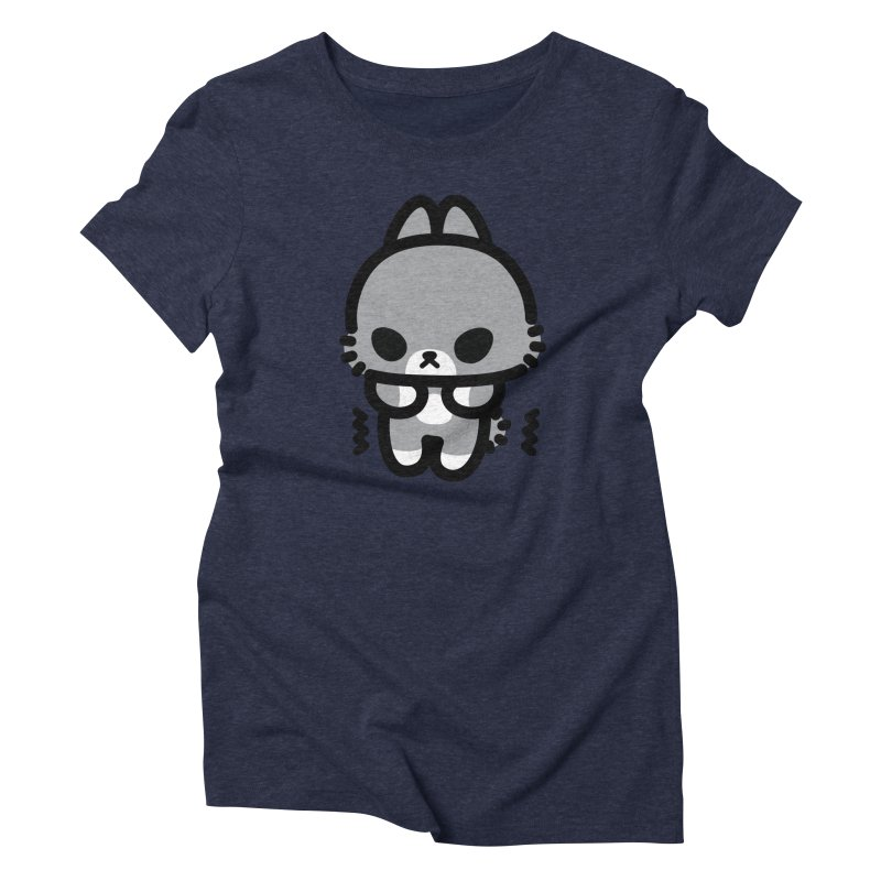 scaredy scaredy grey bunny Women's Triblend T-Shirt by Ziqi - Monster Little