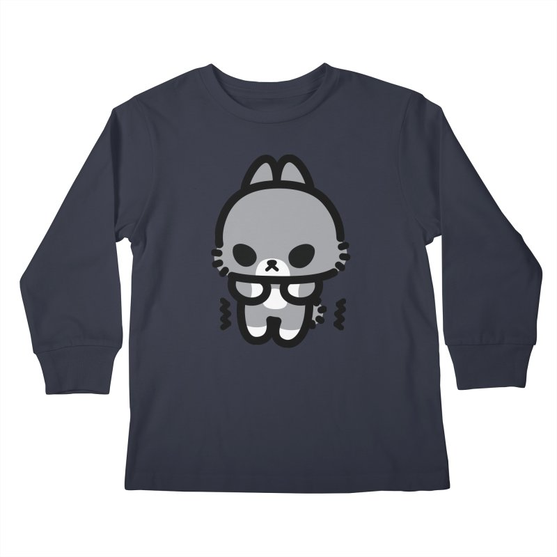 scaredy scaredy grey bunny Kids Longsleeve T-Shirt by Ziqi - Monster Little