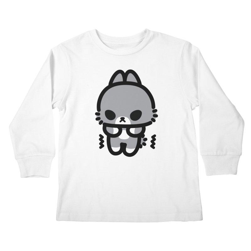 scaredy scaredy grey bunny Kids Longsleeve T-Shirt by Ziqi - Monster Little