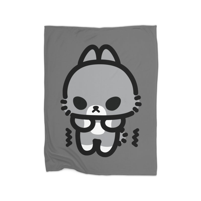 scaredy scaredy grey bunny Home Fleece Blanket Blanket by Ziqi - Monster Little