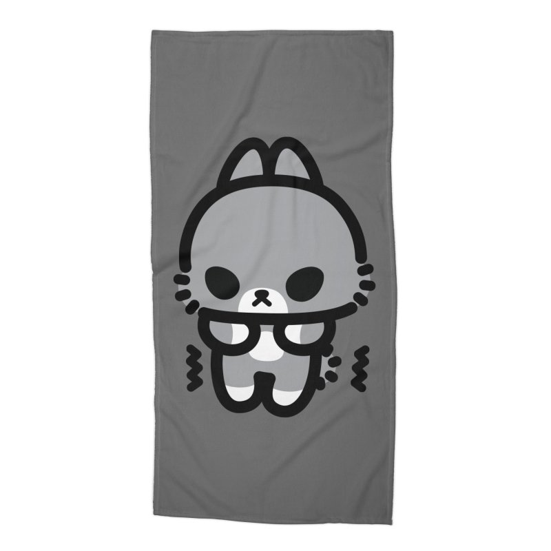 scaredy scaredy grey bunny Accessories Beach Towel by Ziqi - Monster Little