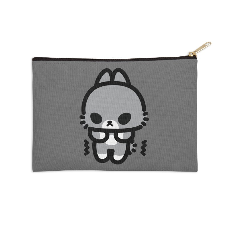 scaredy scaredy grey bunny Accessories Zip Pouch by Ziqi - Monster Little