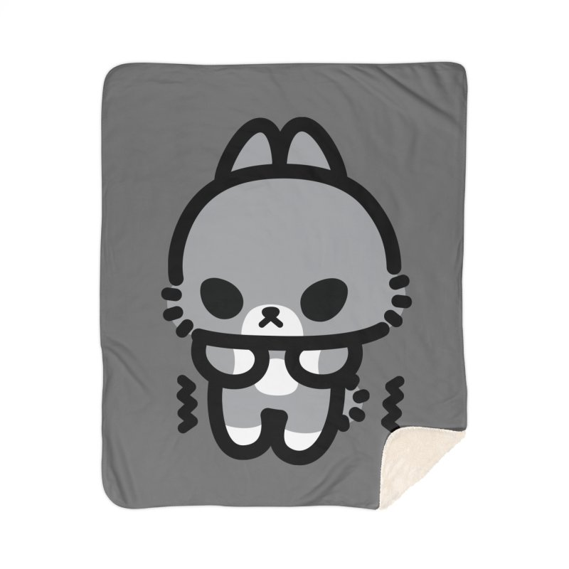 scaredy scaredy grey bunny Home Sherpa Blanket Blanket by Ziqi - Monster Little