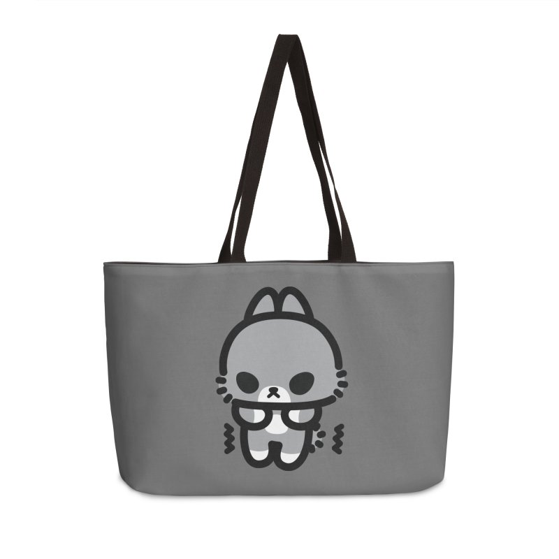 scaredy scaredy grey bunny Accessories Weekender Bag Bag by Ziqi - Monster Little
