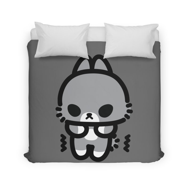scaredy scaredy grey bunny Home Duvet by Ziqi - Monster Little
