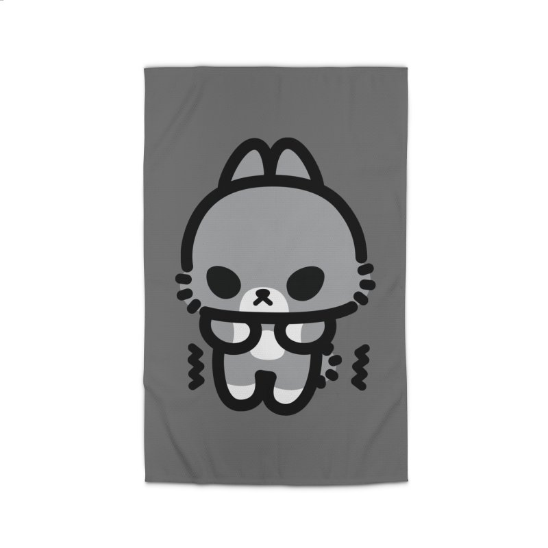 scaredy scaredy grey bunny Home Rug by Ziqi - Monster Little