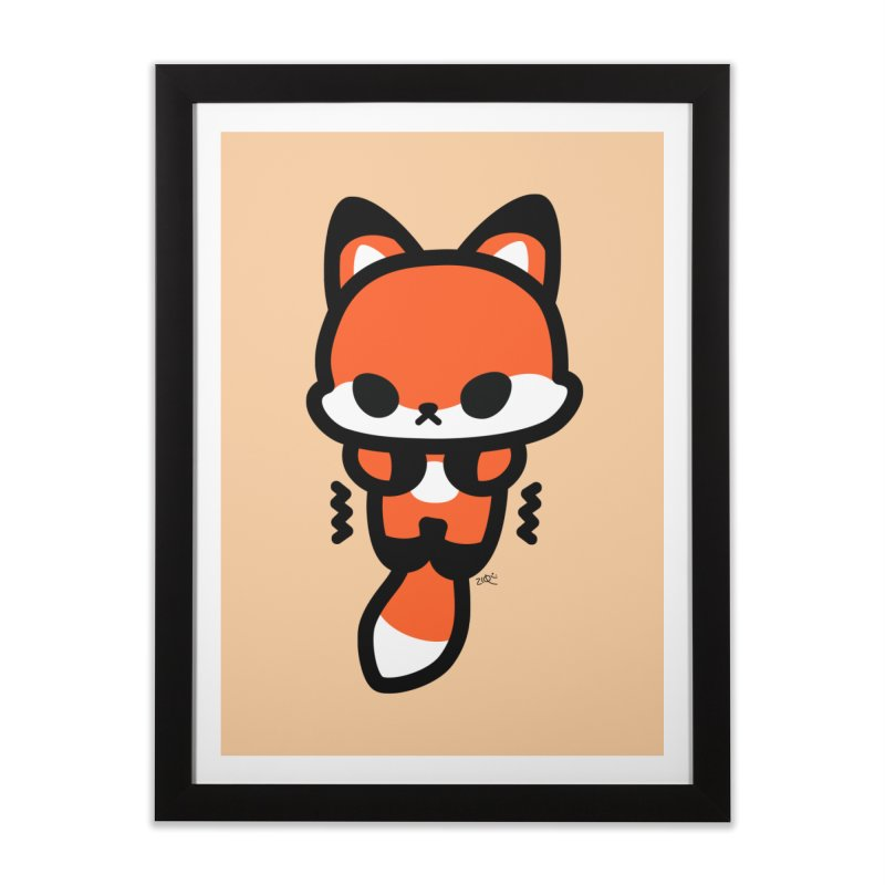 scaredy scaredy fox Home Framed Fine Art Print by Ziqi - Monster Little