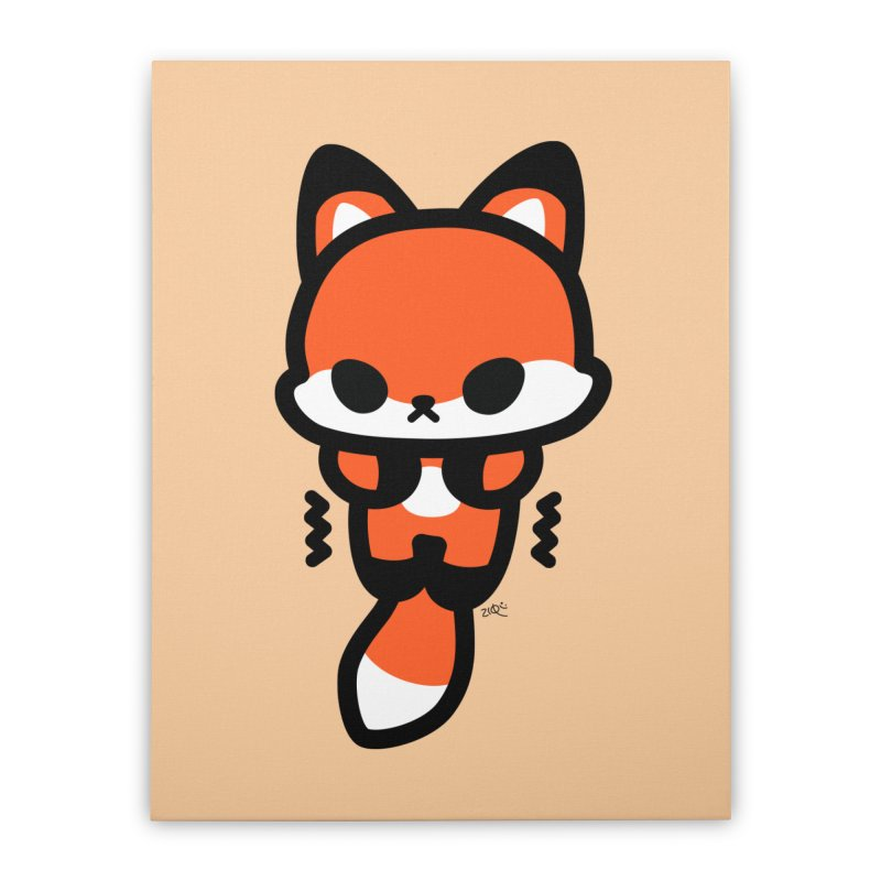 scaredy scaredy fox Home Stretched Canvas by Ziqi - Monster Little