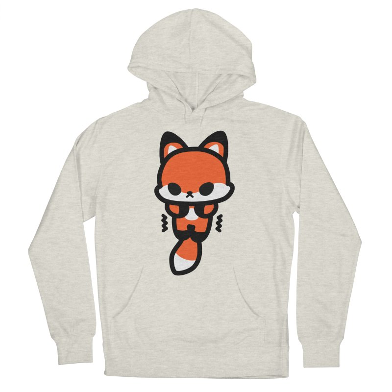 scaredy scaredy fox Men's French Terry Pullover Hoody by Ziqi - Monster Little
