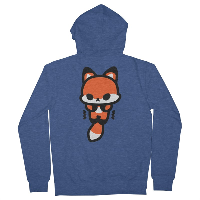 scaredy scaredy fox Women's French Terry Zip-Up Hoody by Ziqi - Monster Little