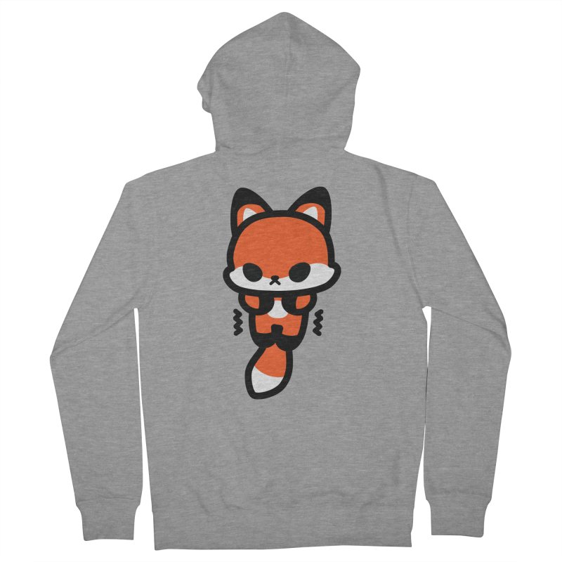 scaredy scaredy fox Men's French Terry Zip-Up Hoody by Ziqi - Monster Little