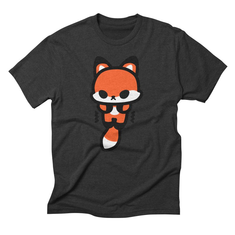 scaredy scaredy fox Men's Triblend T-Shirt by Ziqi - Monster Little