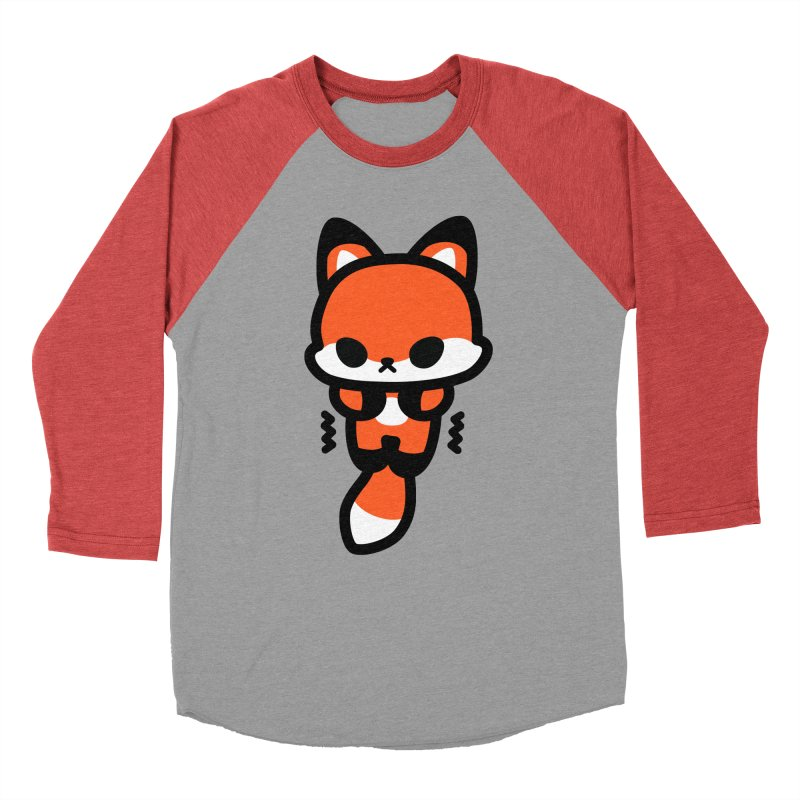 scaredy scaredy fox Women's Baseball Triblend Longsleeve T-Shirt by Ziqi - Monster Little
