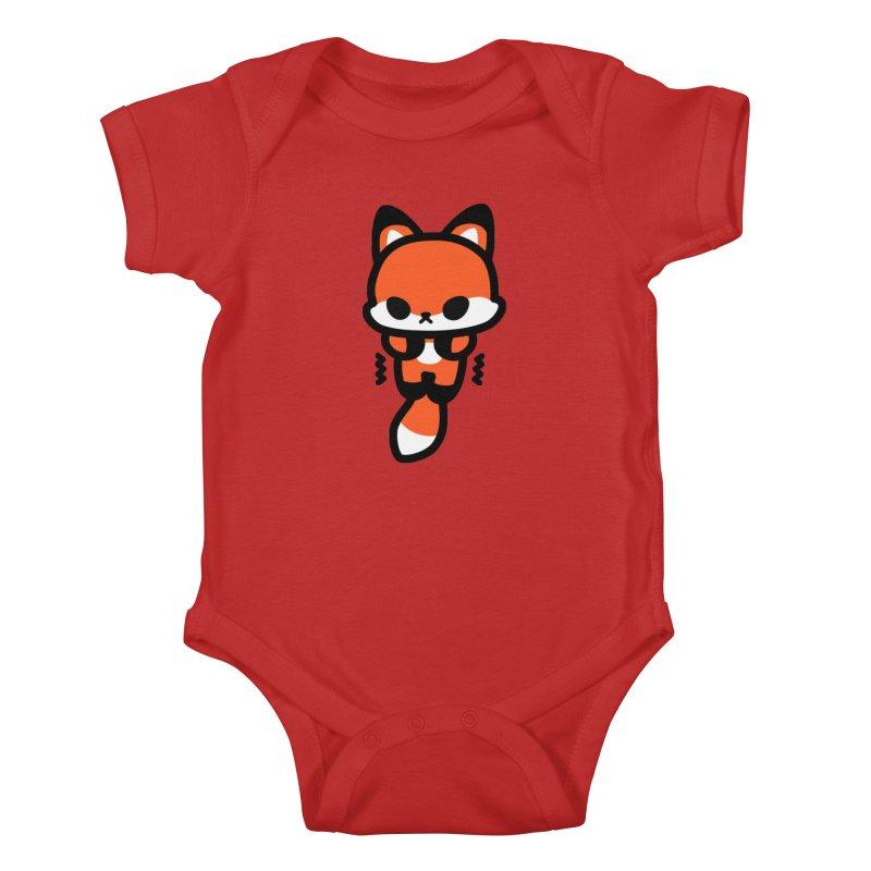 scaredy scaredy fox Kids Baby Bodysuit by Ziqi - Monster Little