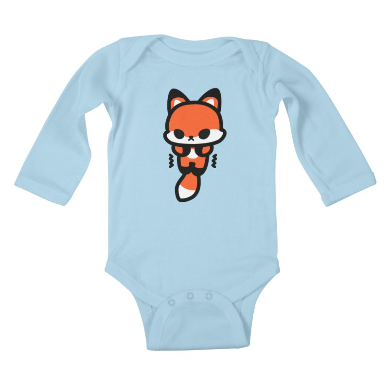 scaredy scaredy fox Kids Baby Longsleeve Bodysuit by Ziqi - Monster Little