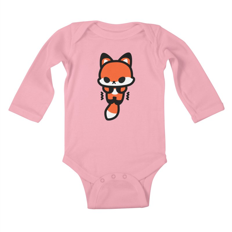 scaredy scaredy fox Kids Baby Longsleeve Bodysuit by Ziqi - Monster Little