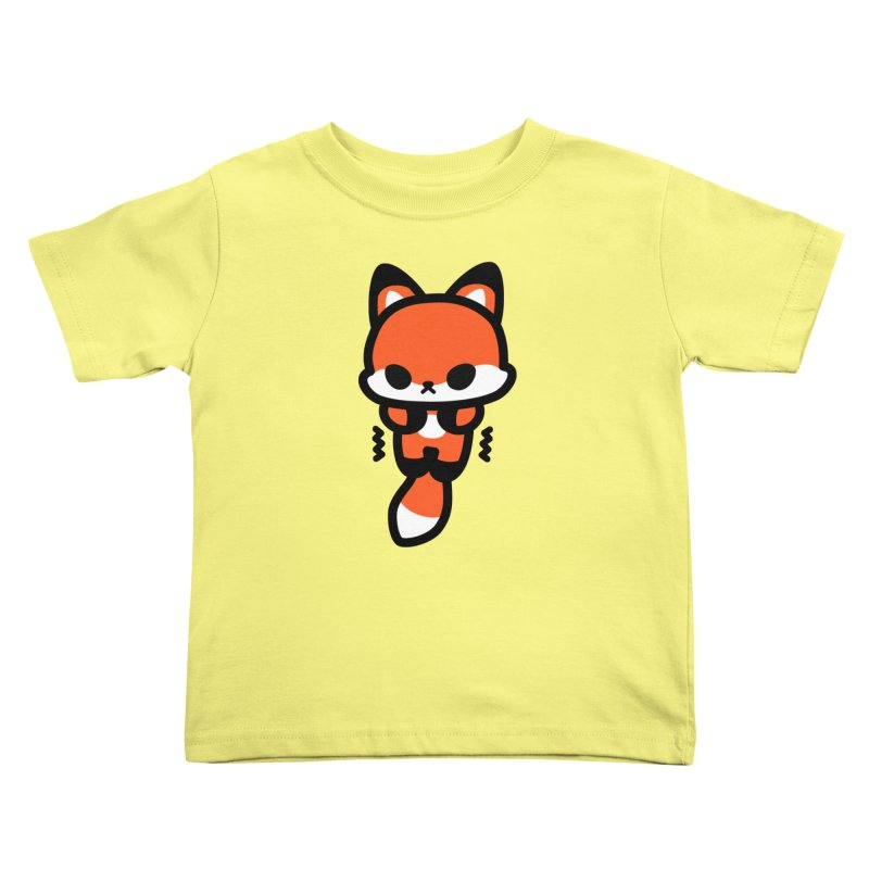scaredy scaredy fox Kids Toddler T-Shirt by Ziqi - Monster Little