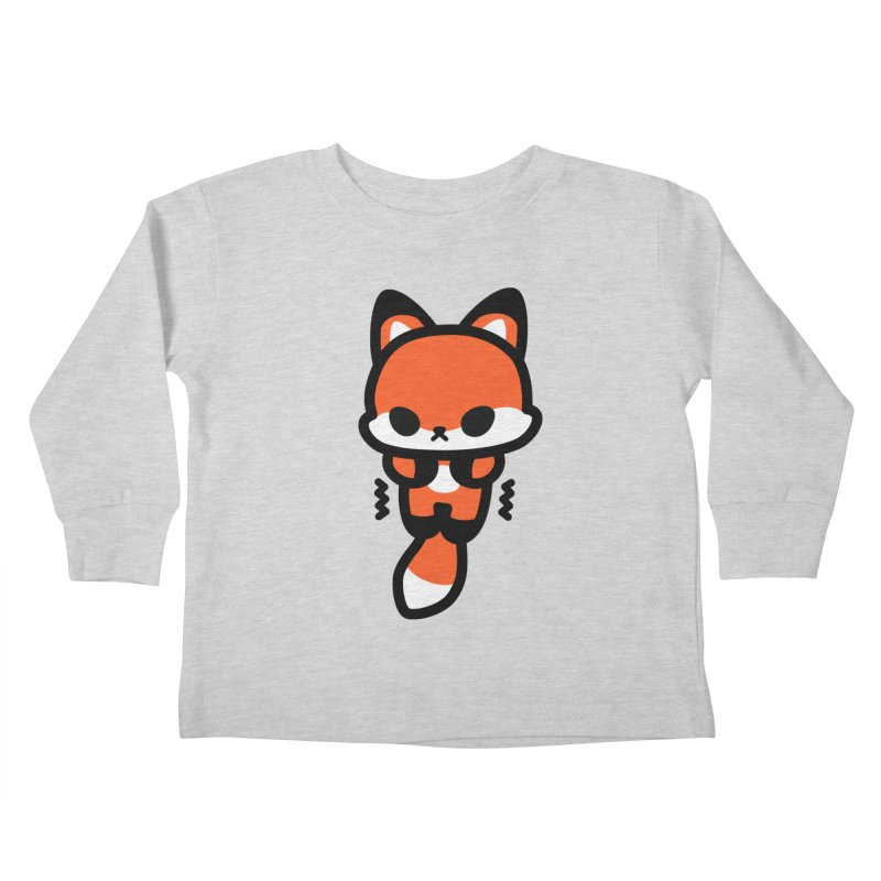 scaredy scaredy fox Kids Toddler Longsleeve T-Shirt by Ziqi - Monster Little